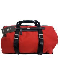Michael Kors Kent Sport Jet Set Travel Conv. 2 In 1 Duffle To Backpack Crimson - Red