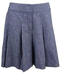 Nine West - Cotton Linen Twill Shorts - Lyst