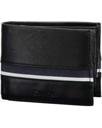 Calvin Klein Stripe 10 CC Coin Pass Black - Nero