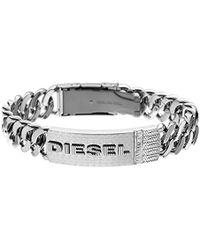 DIESEL Herren-Armband DX0326040 - Mettallic