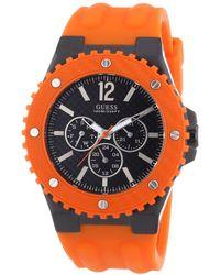 Guess Reloj cab.esf.neg.cor.sil.nj. orologio Uomo Analogico Al quarzo con cinturino in Gomma W11619G4 - Multicolore