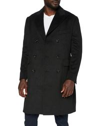 FIND Wool Mix Double Breasted Smart Abrigo - Negro