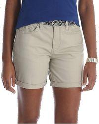 "Lee Jeans Riders Womens 6"" Belted Cuff Shorts - Midrise (Cashmere Khaki, 8 Medium, 22 Medium) - Natur"