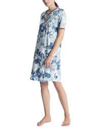CALIDA Soft Jersey Fun Camicia da Notte - Blu