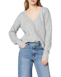 Superdry - Erin Embellished Vee Knit Pull - Lyst