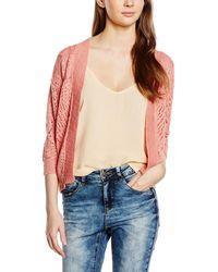Vero Moda VMALLY 3/4 Knit Cardigan NOOS Strickjacke - Pink