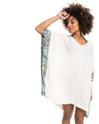 Roxy Vestito da spiaggia da donna Marine Bloom - Bianco