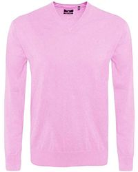 GANT Pullover LT. WEIGHT COTTON V-NECK, Einfarbig - Pink