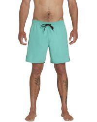 "Volcom Lido Solid 16"" Swim Surf Trunk - Green"