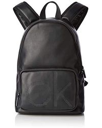 Calvin Klein Ck Up Round Backpack Rucksack, Schwarz (Black)