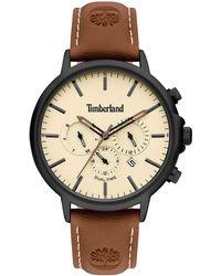 Timberland Reloj Analógico para Hombre de Cuarzo con Correa en Cuero TBL15651JYB.01 - Multicolor