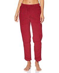 Triumph Mix & Match Tapered Trouser Flannel Pantaln de Pijama - Rojo