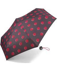 Esprit Petito Moon Dots Parapluie de Poche Multicolore Claret Red 91 cm - Rouge