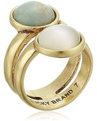 Lucky Brand - S Double Set Stone Ring - Lyst
