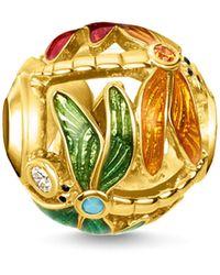 Thomas Sabo Bead libellule femme Argent sterling 925 plaqué or jaune 18 carats K0314-471-7 - Métallisé