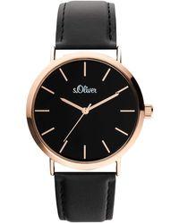 S.oliver Armbanduhr Analog Quarz - Schwarz