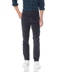 Goodthreads Marque Amazon – Pantalon en velours côtelé extensible et confortable avec coupe ajustée et 5 poches pour - Gris