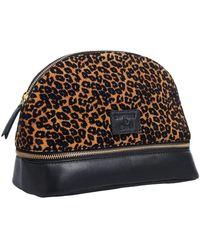 Superdry Make Up Bag Accessory Travel Wallet - Brown