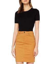 Vero Moda VMHOT Sophia HR Pencil Slit Skirt Color Rock - Mehrfarbig