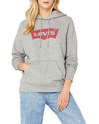 Levi's - Batwing Hoodie Plain Regular Fit Long Sleeve Hoodie - Lyst