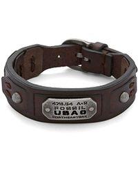 Fossil Herren-Armband JF86562040 - Braun