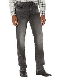 True Religion Ricky Straight Leg Jeans - Grau