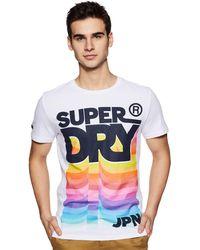 Superdry Rétro Mi Poids Tee M Optic - Multicolore