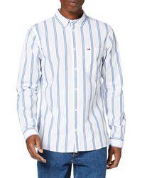 Tommy Hilfiger TJM Classics Poplin Stripe Shirt Camisa - Blanco