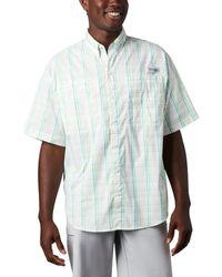 Columbia Super Tamiami Ss Shirt - Blau