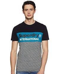 Superdry Trophy Micro AOP tee Camiseta de Tirantes para Hombre - Negro