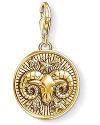 Thomas Sabo - S s-Charm-Pendentif Signe Zodiacal Bélier Charm Club Argent Sterling 925 plaqué or jaune 18 carats 1652-414-39 - Lyst