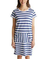 Esprit Bodywear Deenah Cas Nw Nightshirt Nightgown - Blue