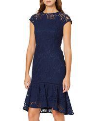 Dorothy Perkins Lace Pephem Dress Party - Blue