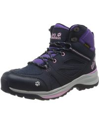 Jack Wolfskin Force Striker Texapore Mid K High Rise Hiking Shoes - Blue