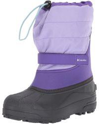 Columbia Youth Powderbug Plus Ii Snow Boots - Purple