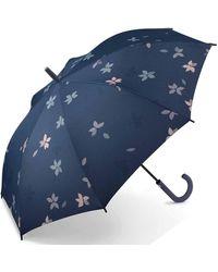 Esprit Long AC Flower Rain Parasol Multicolore Bleu 105 cm