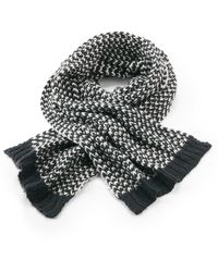 Kipling Knitted Chunky Scarf Grey Night
