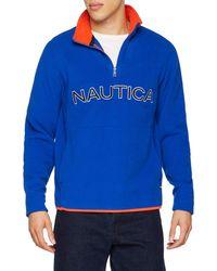 Nautica Logo NAUTEX 1/4 Zip Pullover Maillot de survêtement - Bleu