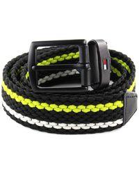 Tommy Hilfiger Stripe Belt 3.5 élastiques Denton Stripe Belt 3.5 W85 Lemon Lime - Multicolore