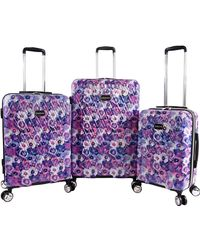 Bebe Gia 3pc Suitcase Set With Spinner Wheels - Purple