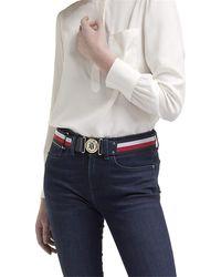 Tommy Hilfiger Nouvelle Corporate Belt 4.0 élastique Corporate Belt 4.0 W80 Corporate Stripe - Noir
