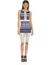 Clover Canyon - Sportswear Neoprene/lace Dress - Lyst
