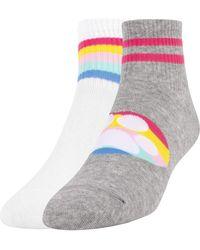Skechers Bobs For Dogs 2 Pack Non Terry Quarter Crew Socks - Gray