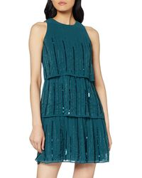 Dorothy Perkins Joanie Sequin Tiered Trapeze Dress - Green