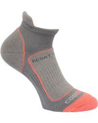 Regatta Great Outdoors S/ladies Trail Runner Trainer Socks - Grey
