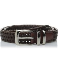 Perry Ellis Portfolio Braided Belt - Brown