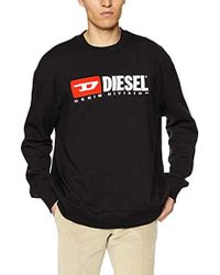 DIESEL S- Crew-Division SWEA Sweat-Shirt - Noir