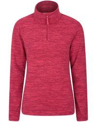 Mountain Warehouse Sweat-Shirt Respirant pour - Séchage Rapide et antibactérien - pour Les - Rouge