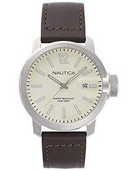 Nautica Analogique Quartz Montre avec Bracelet en Silicone NAPFRB004 - Multicolore