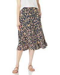 Goodthreads Easy Pull-on Fluid Twill Midi Skirt - Black